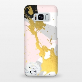 Galaxy S8+  Gold Splatter by Uma Prabhakar Gokhale (graphic, concept, geometric, gray, pastel, gold, metallic, triangles, splatter, abstract, marble)