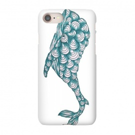 iPhone 8/7  Turquoise Whale by ECMazur