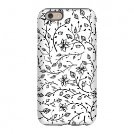 iPhone 6/6s  Delicate Black and White Flowers by Olga Khomenko