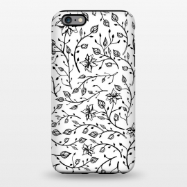 iPhone 6/6s plus  Delicate Black and White Flowers by Olga Khomenko