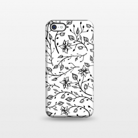 iPhone 5C  Delicate Black and White Flowers by Olga Khomenko