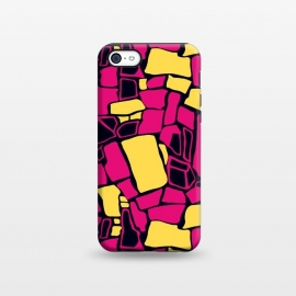 iPhone 5C  Fuchsia and Yellow  by Olga Khomenko