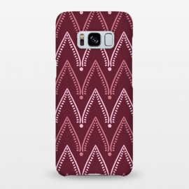 Galaxy S8+  Dusty Pink Chevron by Olga Khomenko