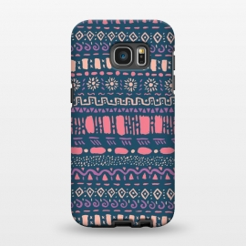 Galaxy S7 EDGE  Hand Drawn Tribal Pattern by Olga Khomenko