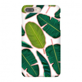 Banana Leaf Blush by Uma Prabhakar Gokhale (graphic, pattern, watercolor, tropical, nature, exotic, banana leaf, banana leaves, palm, palm leaves, palms, botanical, leaves)