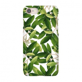 iPhone 7 SlimFit Greenery by Uma Prabhakar Gokhale (graphic, acrylic, pattern, watercolor, green, greenery, nature, botanical, leaves, bloom, tropical, exotic, blossom)