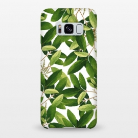 Galaxy S8+  Greenery by Uma Prabhakar Gokhale (graphic, acrylic, pattern, watercolor, green, greenery, nature, botanical, leaves, bloom, tropical, exotic, blossom)