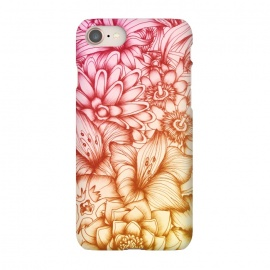 iPhone 7 SlimFit Tropical Flowers by Elizabeth Mazur (floral,botanical,tropical,flowers,blossoms,summer,pretty)