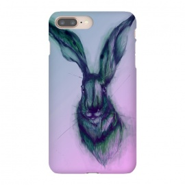 Watercolor Hare by ECMazur  (hare,rabbit,bunny,pink,ombre,watercolor,animal,wildlife)