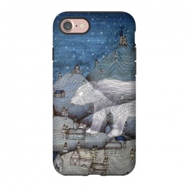 iPhone 8/7  I Protect this Place II | The Bear by ECMazur  (bear,ghost,fairy tale,folktale,magic,mountains,night,stars)
