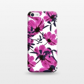 iPhone 5C  Floral Explorers  (White)  by Zala Farah