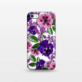 iPhone 5C  White Floral Garden by Zala Farah