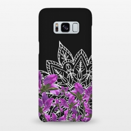 Galaxy S8+  Mandala + Purple Vines by Zala Farah
