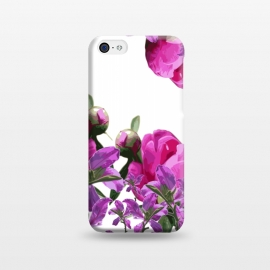 iPhone 5C  Hiding Pink Flowers by Zala Farah