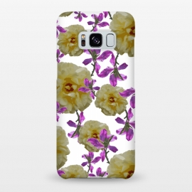 Galaxy S8+  Flowers + Purple Vines by Zala Farah