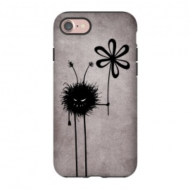 iPhone 7 StrongFit Evil Flower Bug by Boriana Giormova (evil,flower,character,evil character,evil bug,gothic,dark,vintage,grin,evil smile,creature,evil creature,funny)