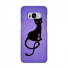 Purple Gracious Evil Black Cat by Boriana Giormova