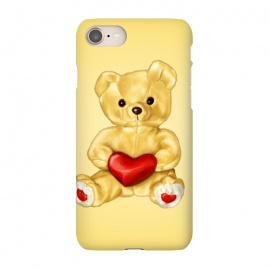 iPhone 8/7 SlimFit Cute Teddy Bear Hypnotist With Heart by Boriana Giormova (teddy,bear,teddy bear,cute,toy,toys,heart,love,fluffy,sweet,adorable,fun,romantic,soft,lovely,joy,cuddly)