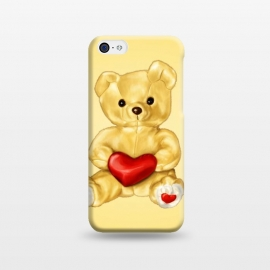 iPhone 5C  Cute Teddy Bear Hypnotist With Heart by Boriana Giormova