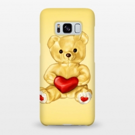 Galaxy S8+  Cute Teddy Bear Hypnotist With Heart by Boriana Giormova