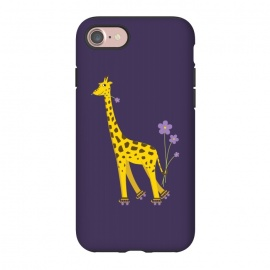 iPhone 8/7  Cute Funny Rollerskating Giraffe by Boriana Giormova