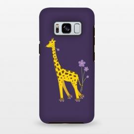Galaxy S8 plus  Cute Funny Rollerskating Giraffe by