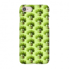 iPhone 8/7 SlimFit Funny Broccoli Pattern by Boriana Giormova (broccoli ,vegetable,vegetables,green,funny broccoli,cartoon,cartoon broccoli,broccoli pattern,pattern,cute broccoli,food,vegan,vegetarian,funny vegetable,plant,diet,fresh,healthy,healthy eating,raw,dieting)