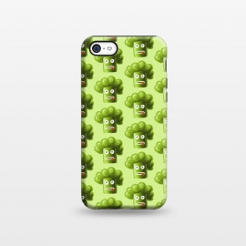 iPhone 5C  Funny Broccoli Pattern by Boriana Giormova