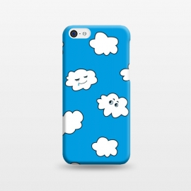 iPhone 5C  Funny Cartoon Clouds by Boriana Giormova