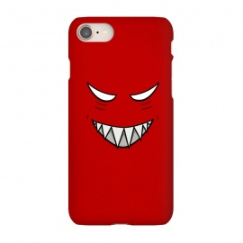 iPhone 8/7 SlimFit Evil Grinning Face by Boriana Giormova (character,face,grin,cartoon,evil,goth,gothic,dark,evil smile,evil face,evil eyes,evil character,evil creature,evil monster,monster,scary,horror,halloween)
