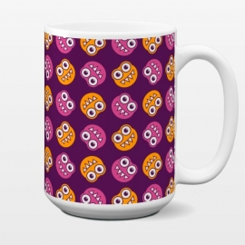 15 oz Standard Mug Cute Cartoon Bugs Pattern by Boriana Giormova (character,bugs,characters,cartoon,cute,sweet,adorable,kawaii,fun,funny,teeth,smile,smiling,happy,happiness,colorful,cute pattern)