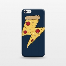 iPhone 5C  Pizza Power by Coffee Man (pizza,power, ray,lighting,pepperone,fast food, food, cheese,melted,geek,restaurant, urbarn)