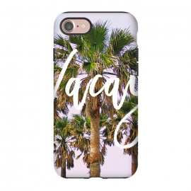 iPhone 8/7  Vacay by Uma Prabhakar Gokhale (digital manipulation, color, coconut trees, palm, palms, palm trees, vacation, travel, nature, beach, california, typography, vacay, exotic, tropical)
