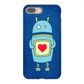 iPhone 7 plus  Clumsy Cute Robot With Heart by Boriana Giormova