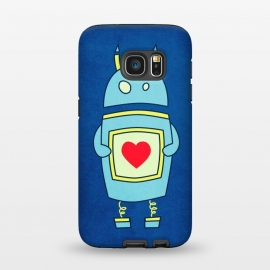 Galaxy S7  Clumsy Cute Robot With Heart by Boriana Giormova