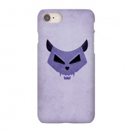 iPhone 8/7 SlimFit Purple Evil Cat Skull by Boriana Giormova (cat skull,cat,cats,skull,skulls,purple,feline,kitty,evil cat,evil kitty,evil ckull,geometric skull,illustration,halloween,funny,dark,scary)