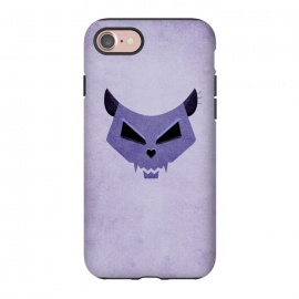 iPhone 7 StrongFit Purple Evil Cat Skull by Boriana Giormova (cat skull,cat,cats,skull,skulls,purple,feline,kitty,evil cat,evil kitty,evil ckull,geometric skull,illustration,halloween,funny,dark,scary)