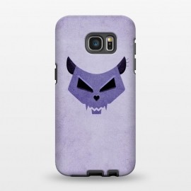 Galaxy S7 EDGE  Purple Evil Cat Skull by Boriana Giormova