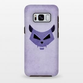 Galaxy S8 plus  Purple Evil Cat Skull by