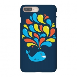 iPhone 8/7 plus  Cute Colorful Splash Cartoon Blue Whale by