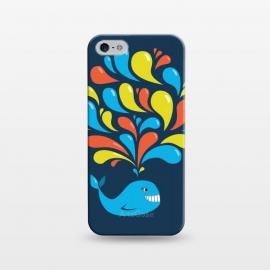 iPhone 5/5E/5s  Cute Colorful Splash Cartoon Blue Whale by