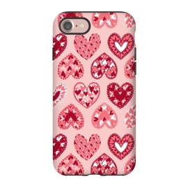 iPhone 8/7  Pink Papercut Hearts by Kimrhi Studios