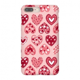 Pink Papercut Hearts by Rhiannon Pettie (Pink,Papercut,Hearts,Love)