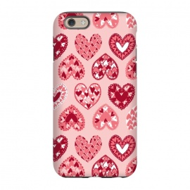 iPhone 6/6s  Pink Papercut Hearts by Kimrhi Studios