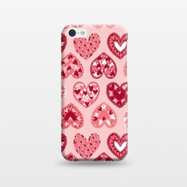 iPhone 5C  Pink Papercut Hearts by Kimrhi Studios