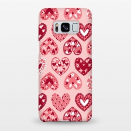 Galaxy S8+  Pink Papercut Hearts by Kimrhi Studios (Pink,Papercut,Hearts,Love)