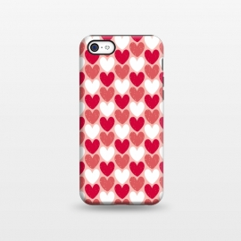 iPhone 5C  Red Hearts by Kimrhi Studios