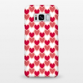 Galaxy S8+  Red Hearts by Kimrhi Studios (hearts,heart,texture,red)