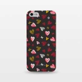 iPhone 5/5E/5s  Chalkboard Love by Kimrhi Studios (hearts,kisses,chalk,love)