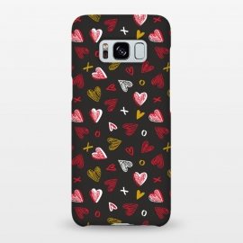 Galaxy S8+  Chalkboard Love by Kimrhi Studios (hearts,kisses,chalk,love)